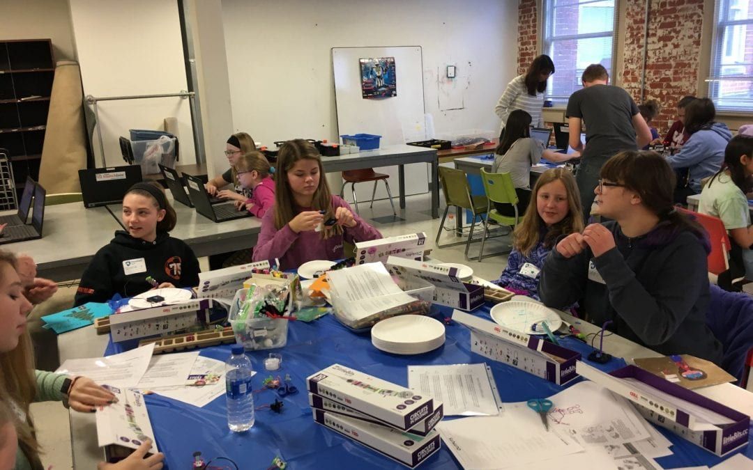 Girl Scouts Learn About Robotics