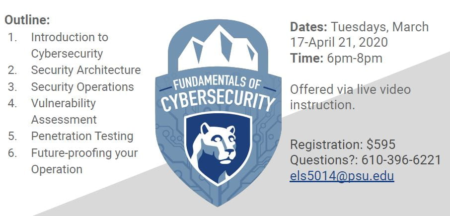 Fundamentals of Cybersecurity Spring 2020