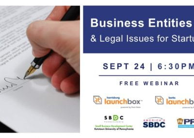Business Entities & Legal Issues for Startups